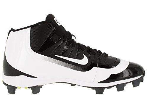 Nike Mens Huarache 2kfilth Keystone Mid Tacchetta Da Baseball Nero / Volt / Bianco