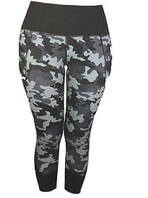 Active Life Womens High Performance Vented Leggings (XXL, grey camo)