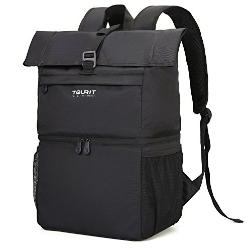 - TOURIT Insulated Cooler Backpack Lunch Backpack Cooler Bag Light Backpack with Cooler for Men Women to Work, Picnics, Hiking, Camping, Beach, Park or Day Trips