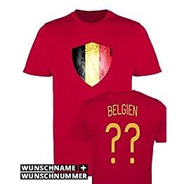 Comedy Shirts Garçon Maillot de football imprimables-Nom et numéro personnalisé-WM/Tous les pays-100% polyester-Maillot à col rond Disponible en diverses couleurs et tailles
