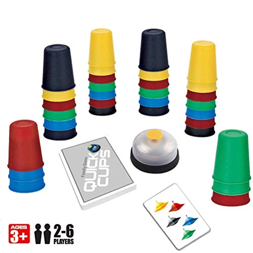 LQT Ltd 2-6 Players Family Board Game Speed Cups Stacking Game Card Games Funny Party Challenge Quick Cups Indoor Game for Child Gift