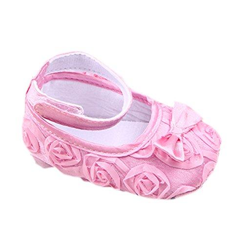 leap frog  Lace Roses Applique, Baby Mädchen Lauflernschuhe, Pink - rose - Größe: 6-12 Monate