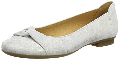 GaborFrost - Bailarinas mujer Plateado (Silver Metallic Leather)