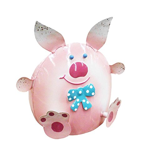 D-Art Collection Iron Table Decor, Pig -