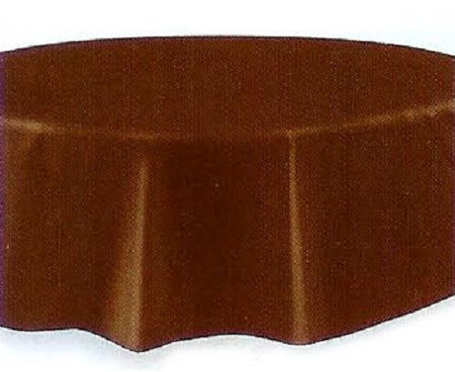 Brown Plastic Table Cover Round 84' Round Plastic Tablecloths