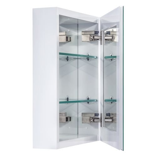 Miseno MBC2016 Dual Mount 20'' X 16'' Beveled Medicine Cabinet (Surface or Recesse, Brushed Nickel