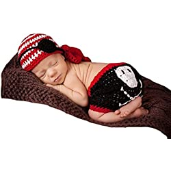 Shinestar Newborn Baby Crochet Knit Pirate Style Photo Prop Hat Shorts Costume Set