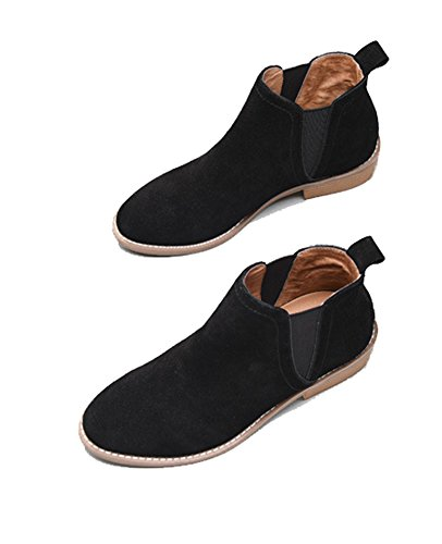 Comfortable Black Winter Classic Booties Boots Chelsea Ankle Suede Leather lite Womens Fall Women U O6pxqXwf