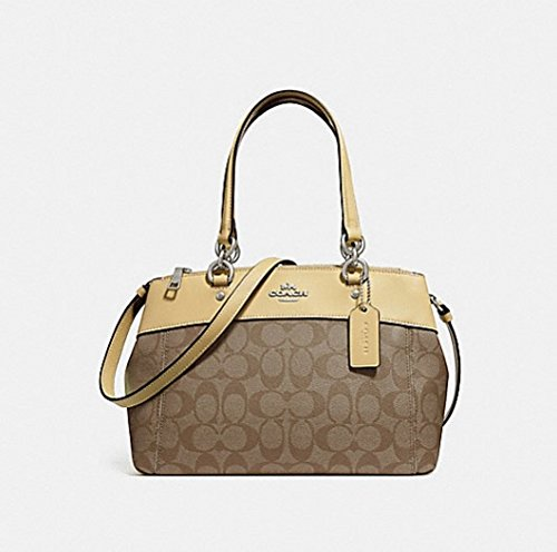 Authentic Coach Mini - COACH MINI BROOKE CARRYALL IN SIGNATURE CANVAS, F26139, khaki/vanilla/silver