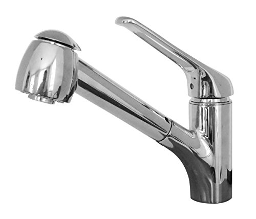 Franke FFPS20180 Valais Single-Handle Pull-Out Sprayer Kitchen Faucet with Water Saver in Satin Nickel