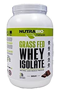 Nutrabio Grass Fed Whey Isolate Chocolate 2 lb