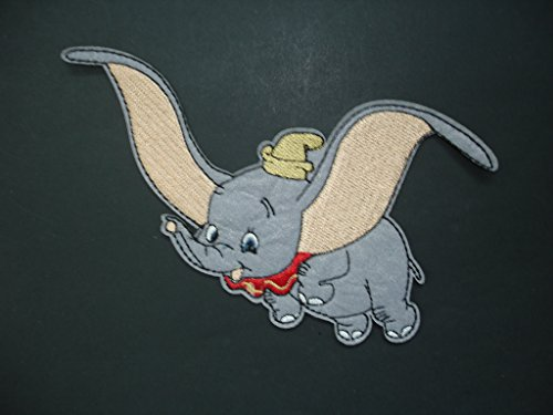 2 pieces BABY ELEPHANT Iron On Patch Applique Animal Motif Fabric Children Decal 3.9 x 2.2 inches (9.8 x 5.5 cm)