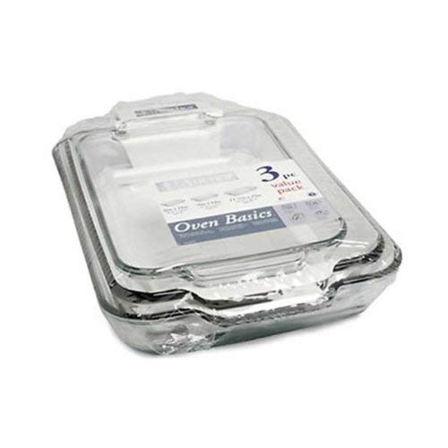 3 Pc. Value Pack (2 qt./1.89 L Bake Dish, 3 qt./2.8 L Bake Dish, 5 qt./4.7 L Bake -