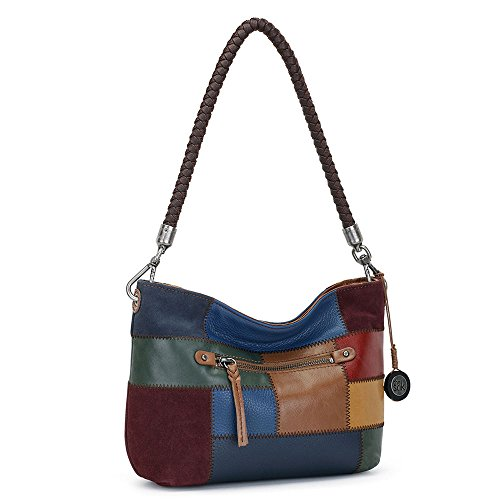 - The Sak Women's Indio Leather Demi Tobacco Multi Patch One Size