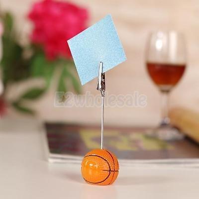 BasketBall Office Decor Sport Style Base Wire Memo Holder Paper Photo Note  Clip