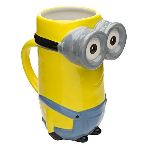 Zak Designs DESZ-8513-B Minions Coffee Mugs, Sculpted, Movie Kevin