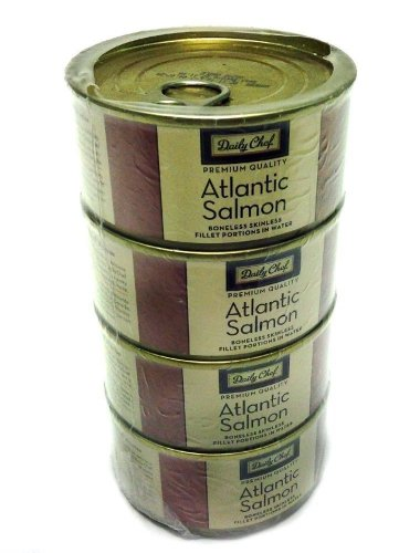 Daily Chef Premium Quality Atlantic Salmon 4 - 7oz. Cans