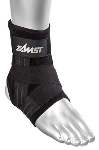 Zamst A1 Right Ankle Brace, Black, Small