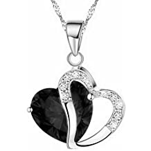 iLH® Clearance Deals Fashion Women Heart Crystal Rhinestone Silver Chain Pendant Necklace Jewelry by ZYooh