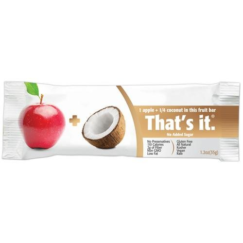 That's it One Apple Plus Coconut Bar, 1.20 Ounce (Pack of 12)