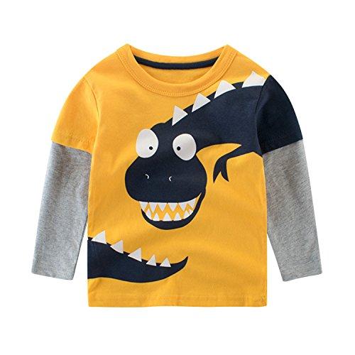 Evelin LEE Baby Boys Infant Long Sleeve T-Shirt Tops Crewnecks Dinosaur Printed Sweatshirts Lee Sports Sweatshirt