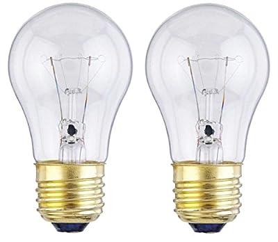 Dysmio Lighting - 40 Watt A15 Incandescent Light Bulb 2700K Clear E26 Base, 130 Volt, (2-Pack)