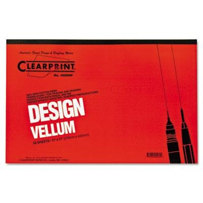 Clearprint CHA10001416 Not Not Available 10001416 Design Vellum Paper, 16lb, White, 11 x 17, 50Sheets per Pad by Clearprint