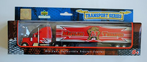 UPPER DECK Collectibles 2007 COLLEGIATE Team Collectible 1:80 Scale PETERBILT Diecast Tractor Trailer UNIVERSITY OF MARYLAND TERRAPINS TERPS ()