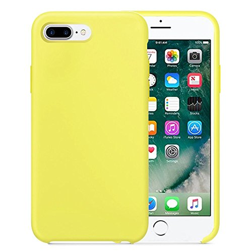 Liquid Silicone Slim Gel Rubber Candy Colors Back Cover Case for Apple iPhone 6/6s (iphone 6/6s, Yellow)