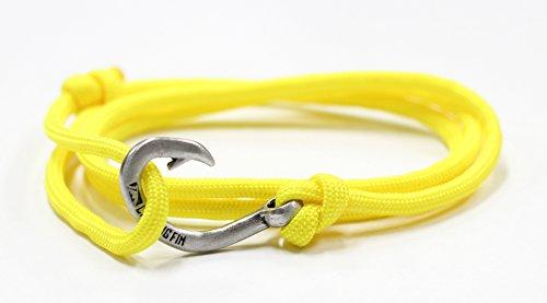 Chasing Fin Adjustable Circle Fish Hook Bracelet (Yellow) - Man Bracelet Fish Hook