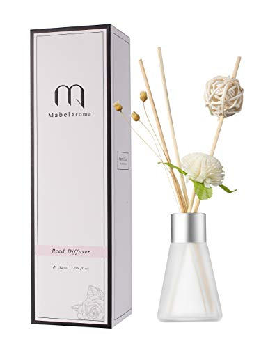 Eyun aroma Reed Diffuser Set Lavender Reed Oil Diffusers for Bedroom Living Room Office Aromatherapy Oil for Gift Idea & Stress Relief (Taste: Lily Jasmine)