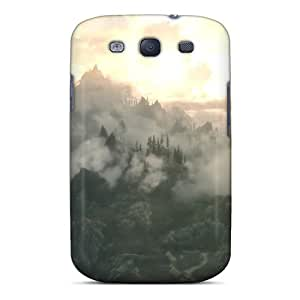 Rjm2086TSZE Cometomecovers Awesome Cases Covers Compatible With Galaxy S3 - Skyrim Mountain Clouds