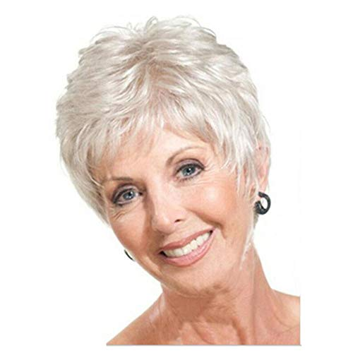 Y Demand Mother Pixie Wig Short Straight Hairstyles White
