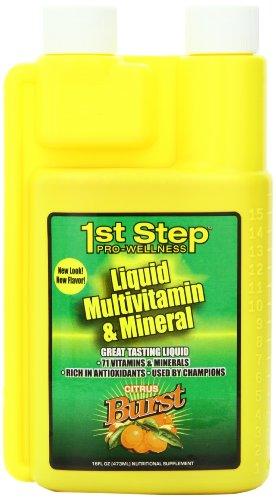 1-й шаг Pro-Wellness Liquid Multi-Vitamin и минеральные добавки, цитрусовые серийной съемки, 16-унция бутылки (комплект из 2)