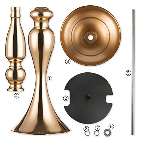 2 pieces 50cm height metal candle holder candle stand wedding centerpiece event road lead flower rack (Glod x 2) ...