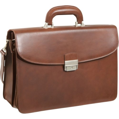 AmeriLeather APC Functional Leather Executive Briefcase (Brown), Bags Central
