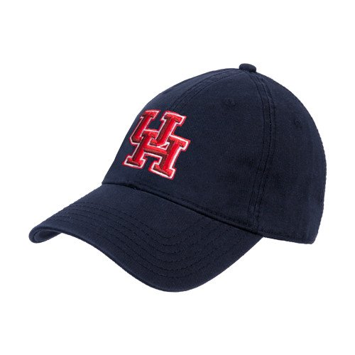 Houston Cougars Navy Twill Unstructured Low Profile Hat 'Interlocking UH']()