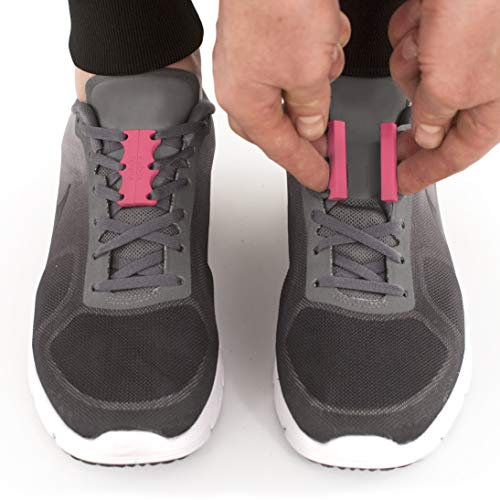 Zubits Magnetic Lacing Solution, Never Tie Laces Again, Pink - #2 - Youth / Adults