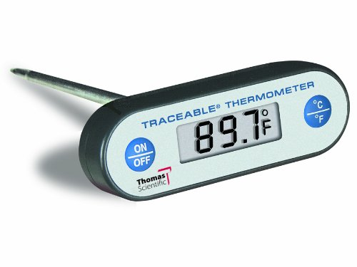 Thomas Traceable Ultra Food/Waterproof/Piercing/Drop-proof Thermometer, 8'' Stem, + or - 0.4 degree C accuracy, -58 to 536 degree F, -50 to 280 degree C by Thomas