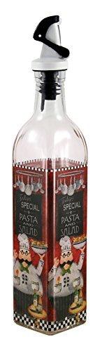 Grant Howard 50899 16 oz Italian Chef Oil and Vinegar Cruet, Clear