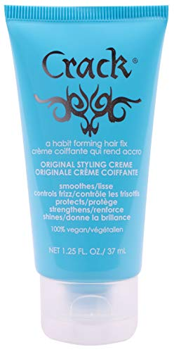 (CRACK HAIR FIX Styling Creme - Multi-Tasking, Anti-Frizz, Leave-In Styling Aid With Protection from Humidity, Chlorine, Heat Treatments & Sun ( 1.25 Oz / 57 Milliliter ))