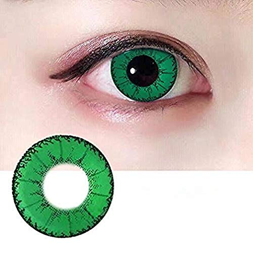 3 Colors Eyes Color Contacts Lens Eyes Cosmetic Makeup Eye Shadow (green)