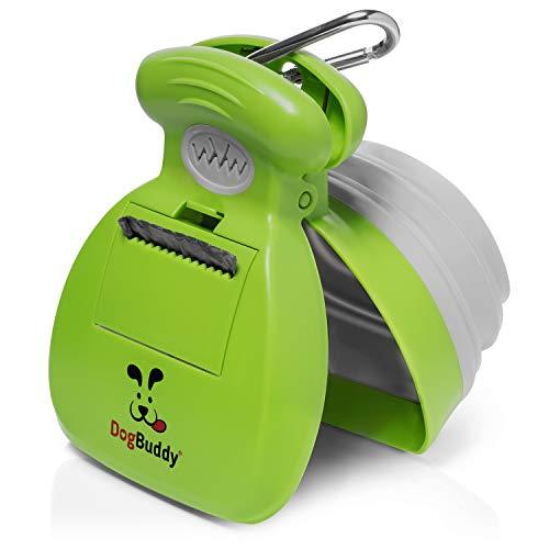 DogBuddy New Pooper Scooper - Small, Medium or Large Dog Pooper Scooper - Portable Poop Scoop - Dog Poop Scooper with Waste Bag Dispenser - Medium - Kiwi