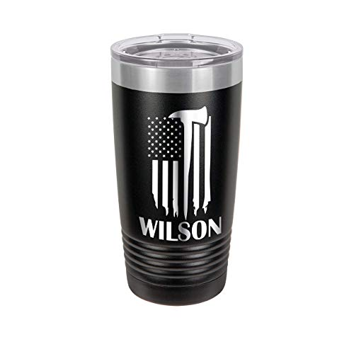 Firefighter Urban Design Personalized Engraved Insulated Stainless Steel 20 oz Tumbler ()