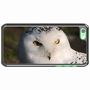 iPhone 5C Black Hardshell Case owl eyes predator Desin Images Protector Back Cover