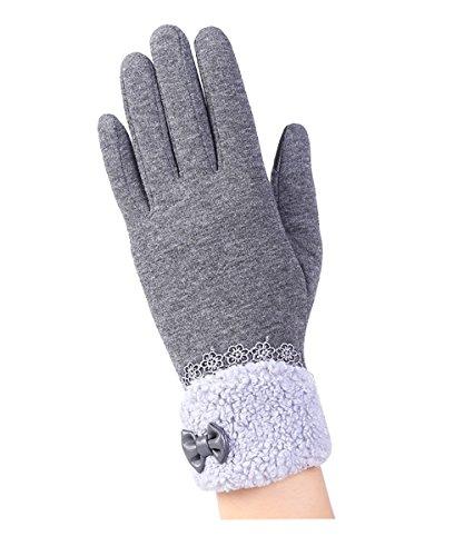 地震芸術的聞きますShellme  秋冬 レディース 手袋 暖かい タッチパネル グローブスマホ対応 加絨 肥厚 防風 防寒 アウトドア エレガント ファッション