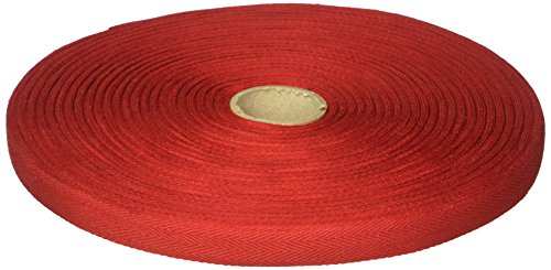 (Products From Abroad 107-14-08 Cotton Twill Tape, 5/8-Yard x 55-Yard, Red)
