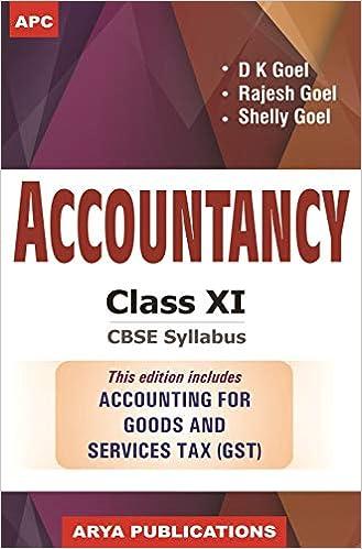 Accountancy Class- XI: Amazon in: D K  Goel, Rajesh Goel