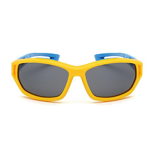 Girls Red blue Glasses Color frame leg Yellow Protección Gafas UV Frame Leg Silicone de Boys Black Kids Moolo Sunglasses Materials Soft Gafas Sol Polarized XxwffB