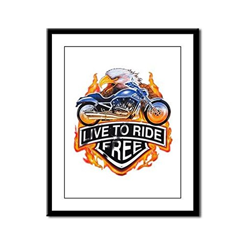 Framed Panel Print Live To Ride Free Eagle Motorcycle